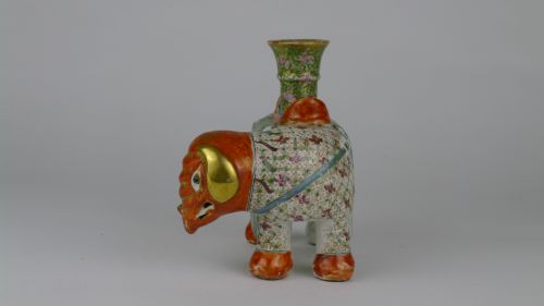 quality 19th century chinese canton elephant candlestick - photo angle #3