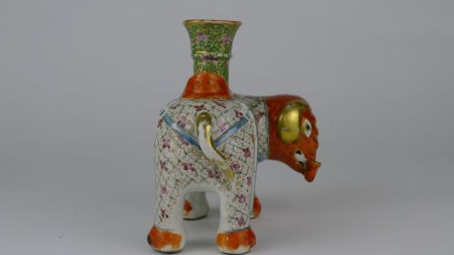 quality 19th century chinese canton elephant candlestick - photo angle #7