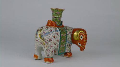 quality 19th century chinese canton elephant candlestick - photo angle #8