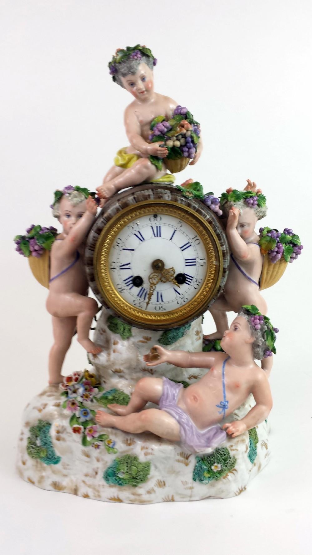 19th century german porcelain clock