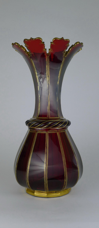 Lovely 19th century bohemian ruby glass vase 506417 lovely 19th century bohemian ruby glass vase reviewsmspy