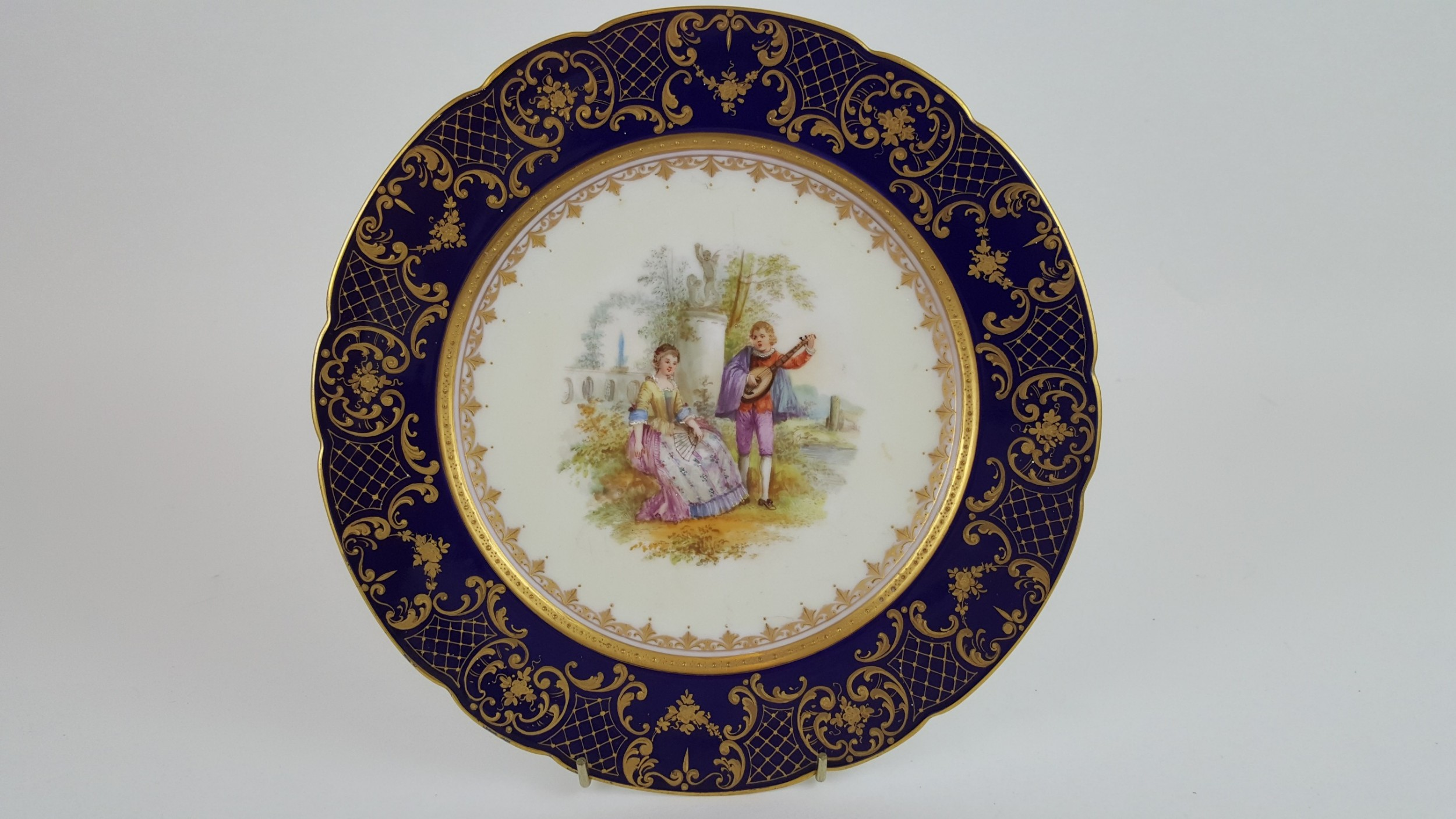19th century dresden display plate