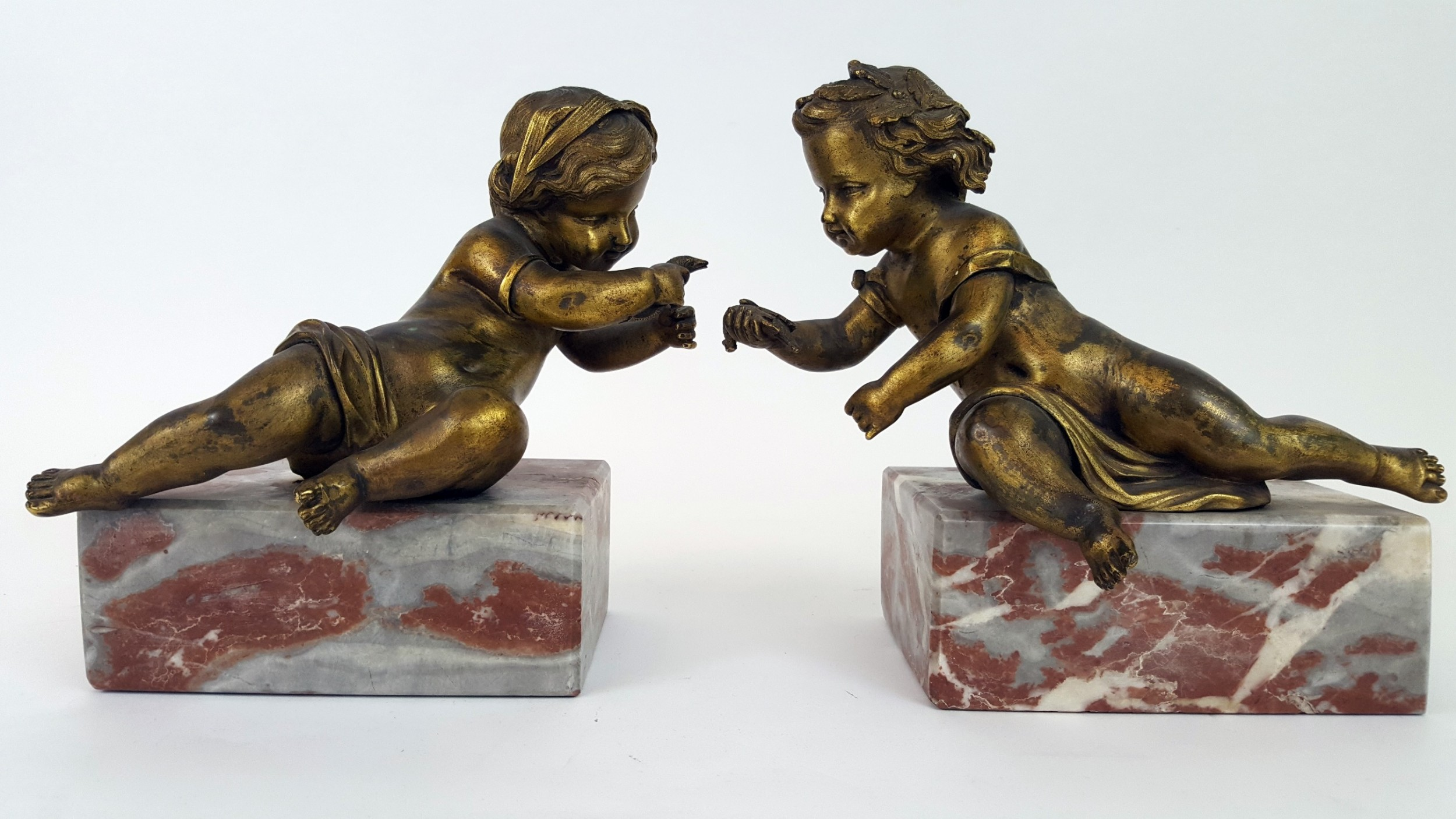 pair of 19th century french book ends