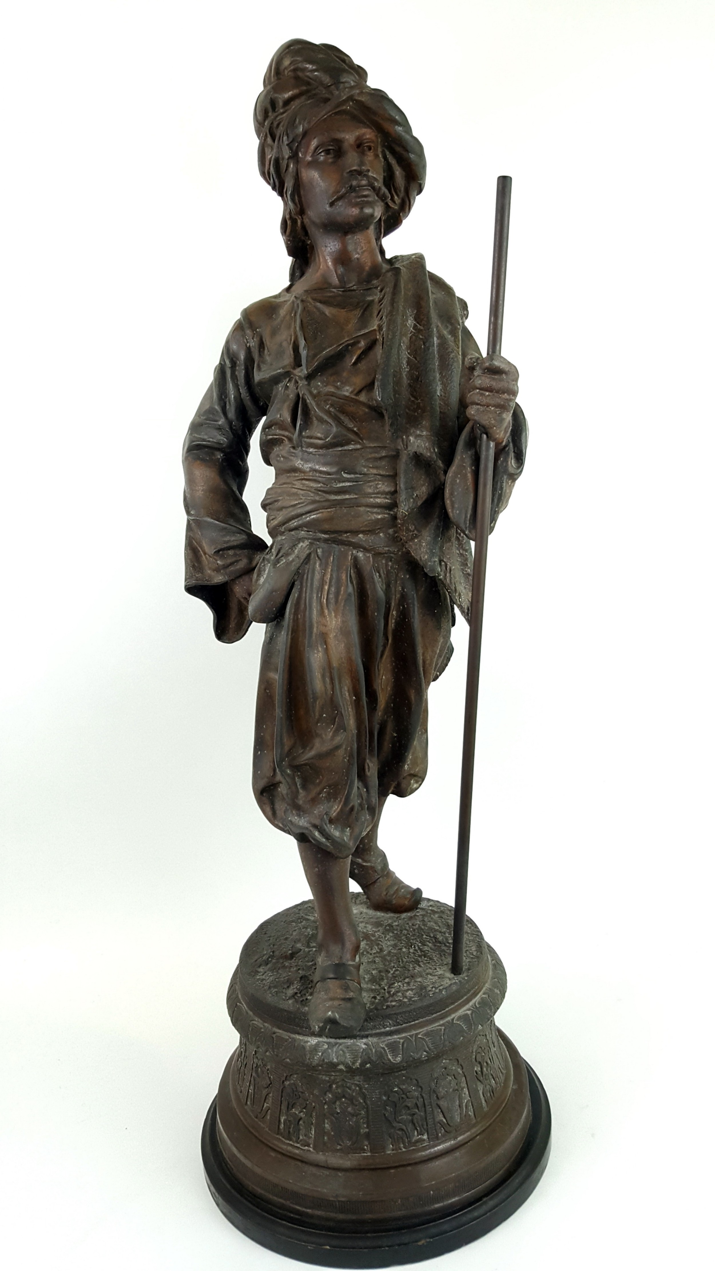 19th century french spelter figure of an arab man