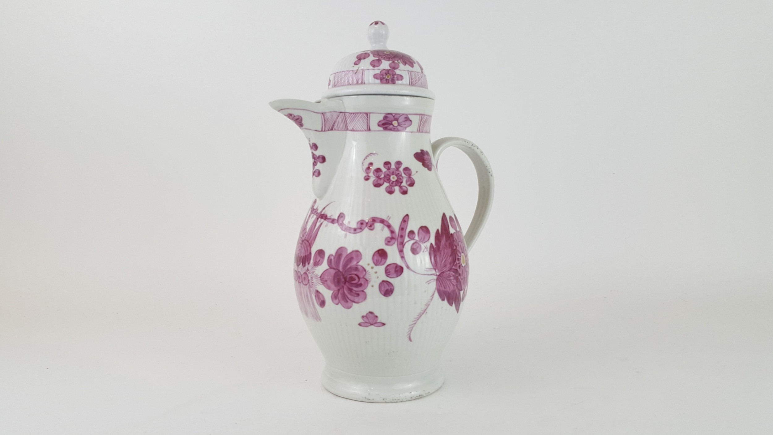 early 19th century french fiance jug and lid
