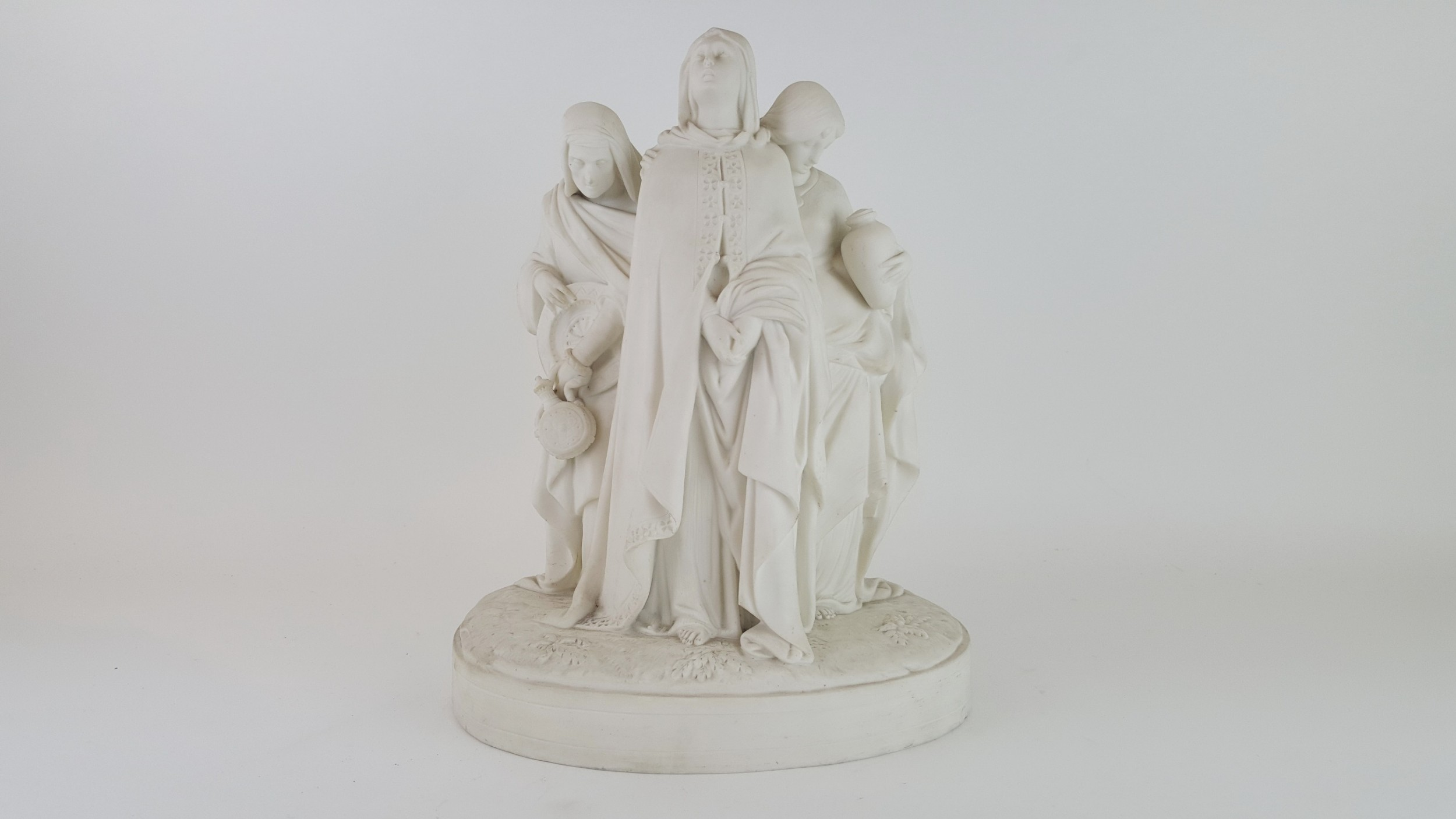 19th century english minton bisque figure group