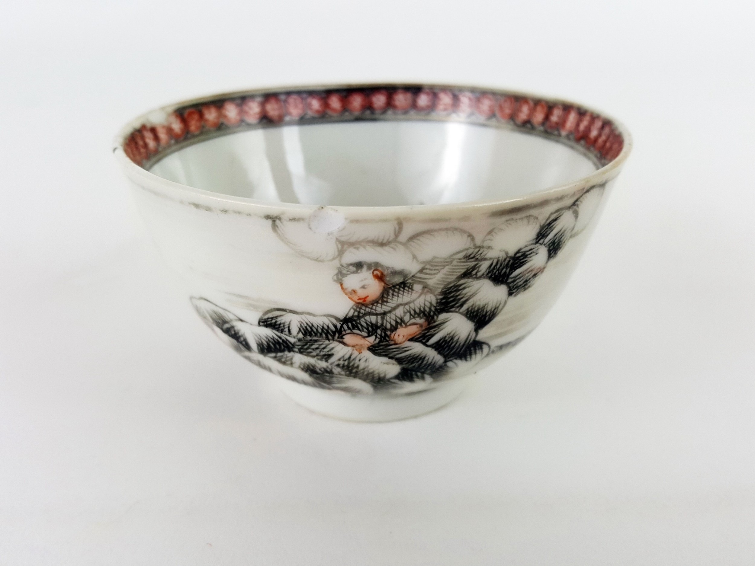 18th century chinese european subject tea bowl