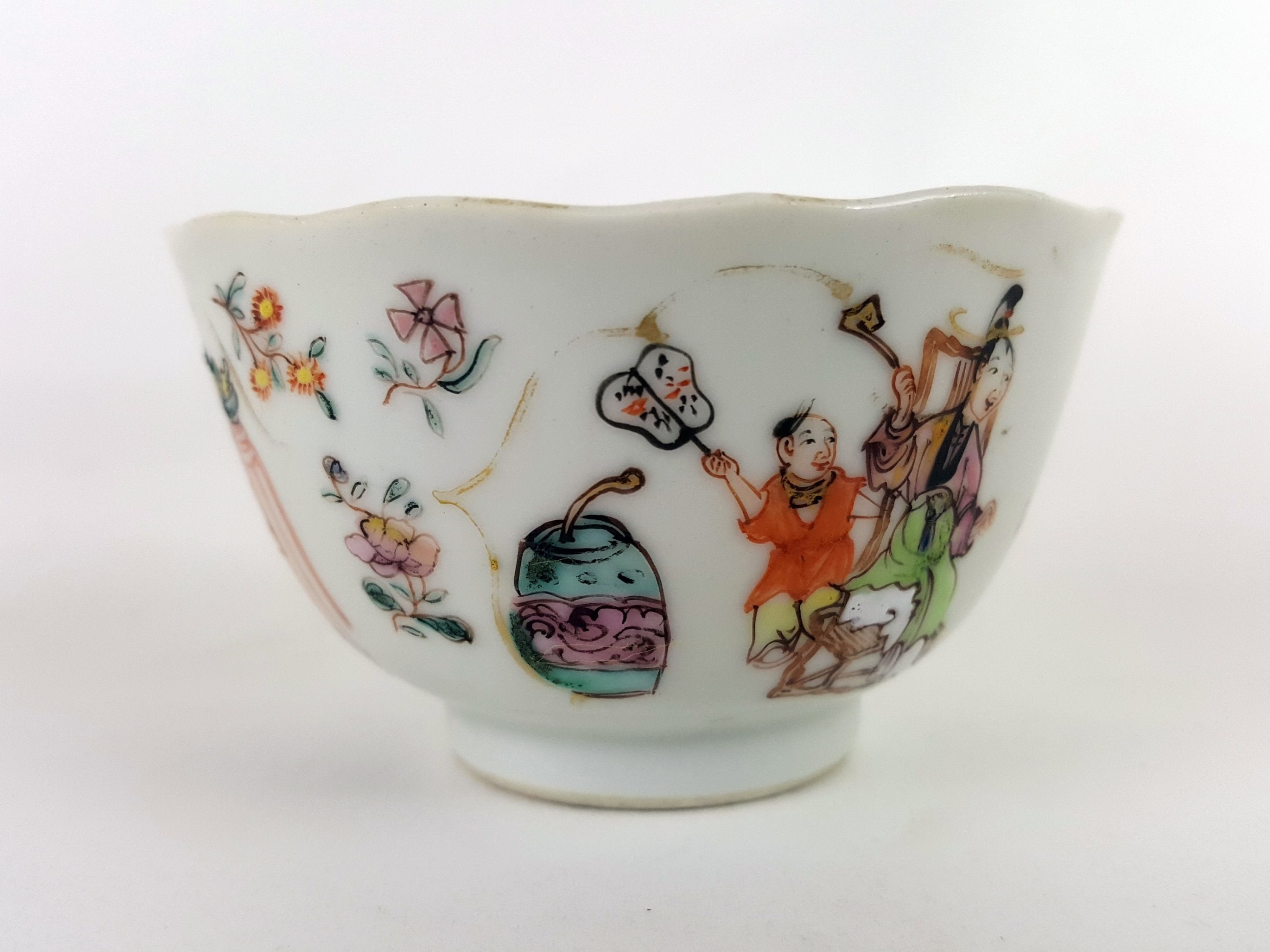 18th century chinese famille rose tea bowl