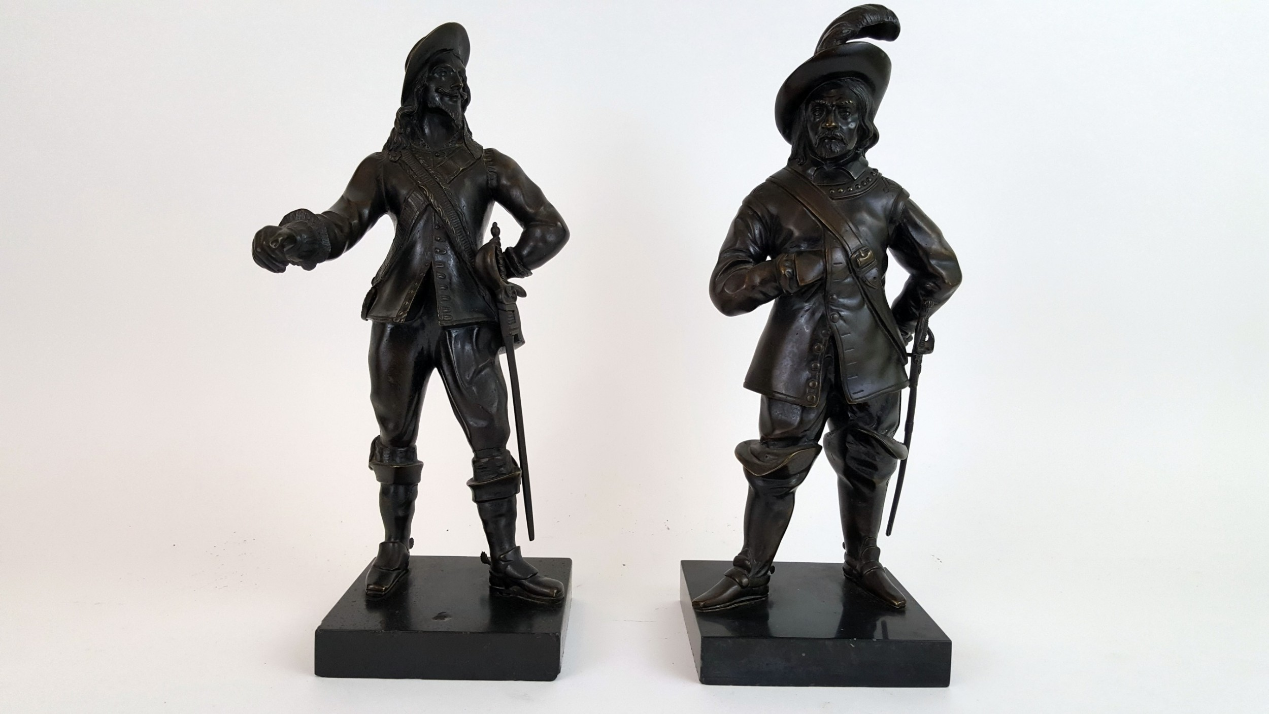 pair of 19th century french bronze cavaliers