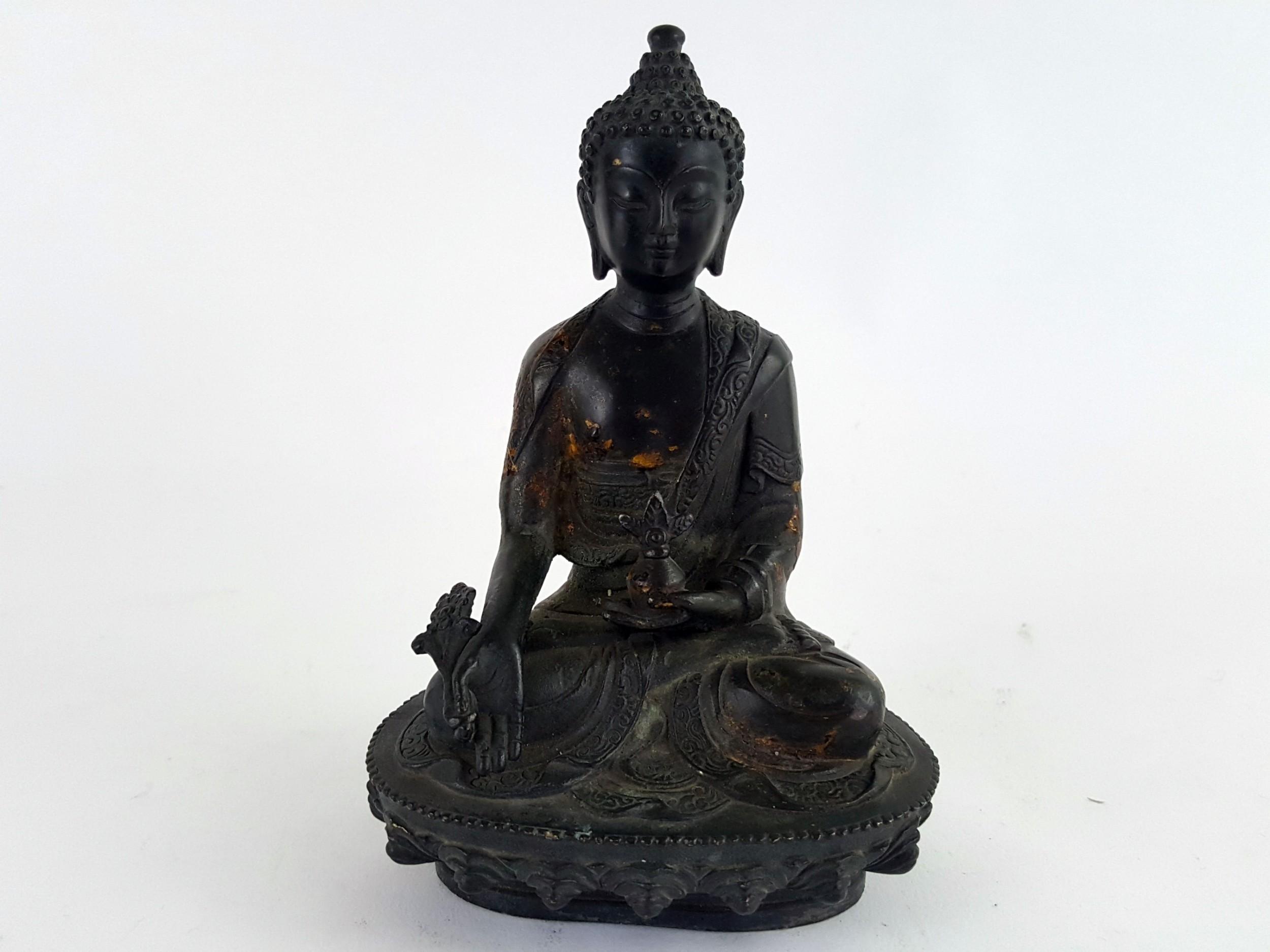 late 19th century chinese bronze figure of buddha