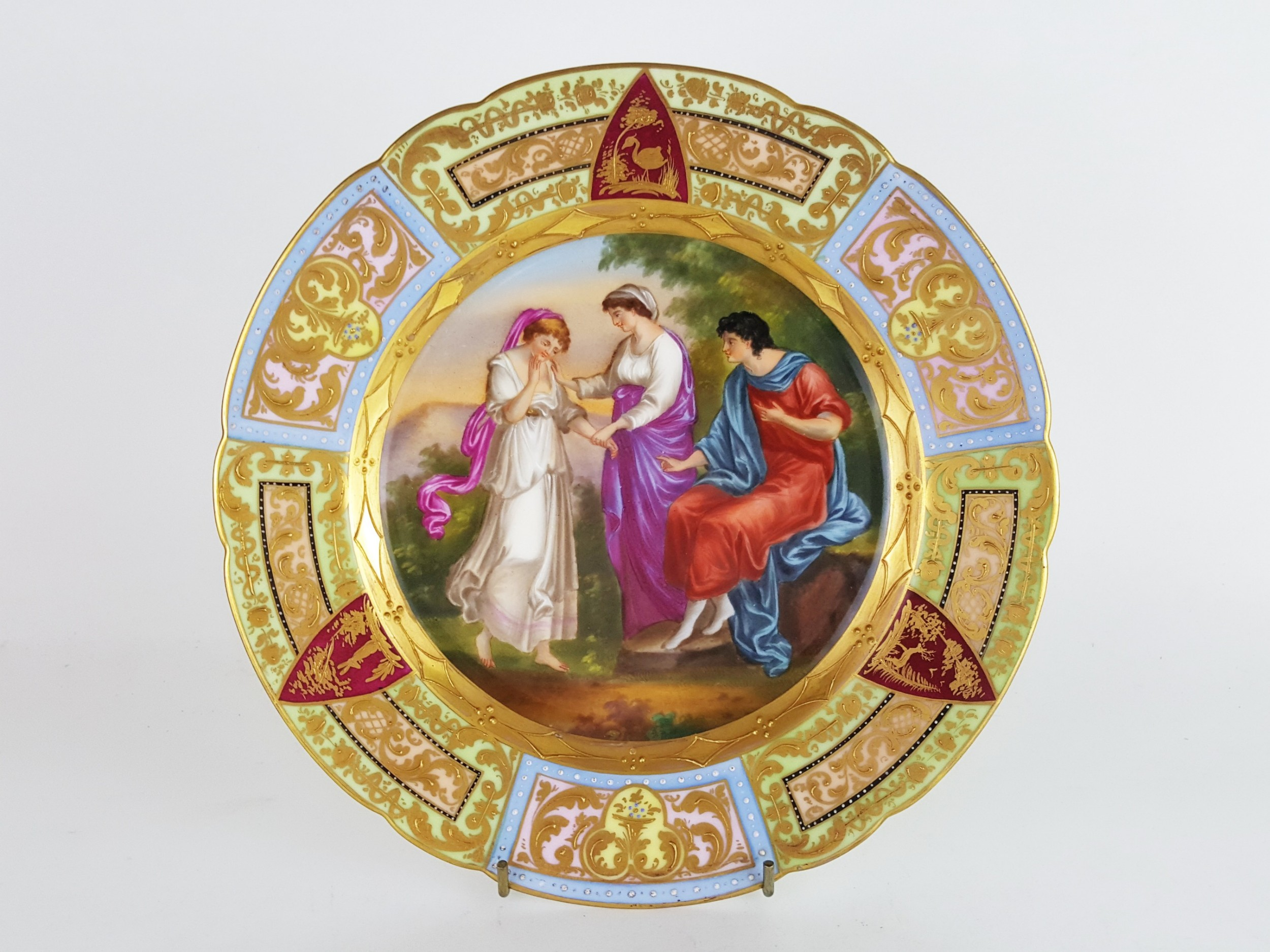 quality 19th century vienna cabinet plate