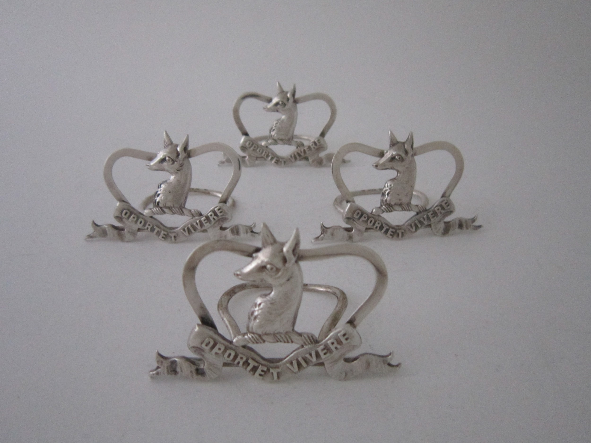 antique victorian scottish sterling silver menuplace card holders