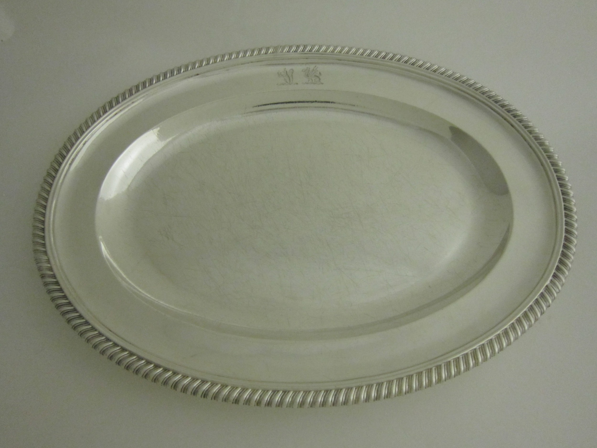 an antique victorian sterling silver serving dishmeat plate