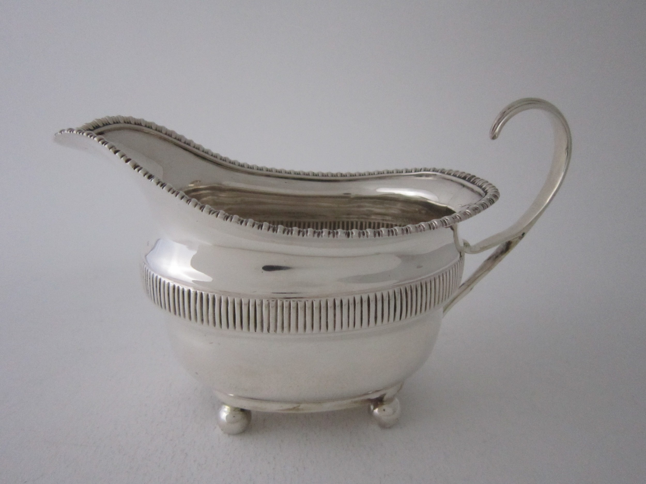 antique edwardian sterling silver milk jug
