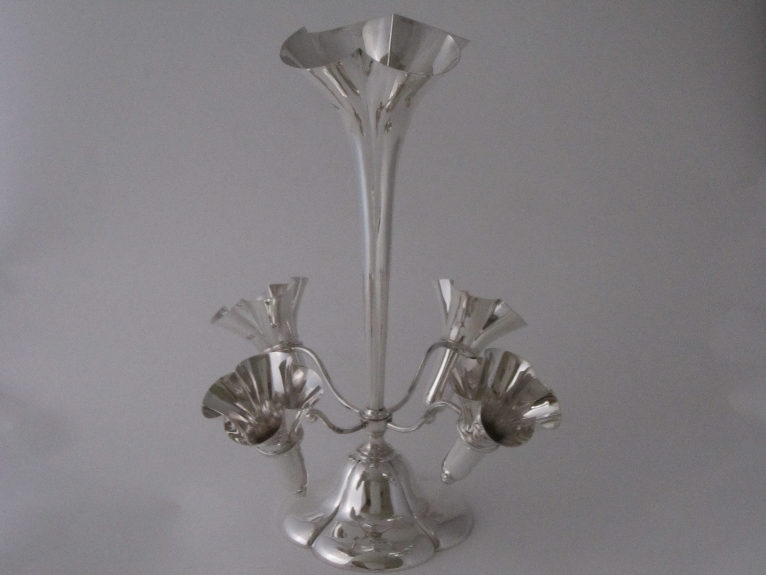 antique edwardian sterling silver epergnecentrepiece