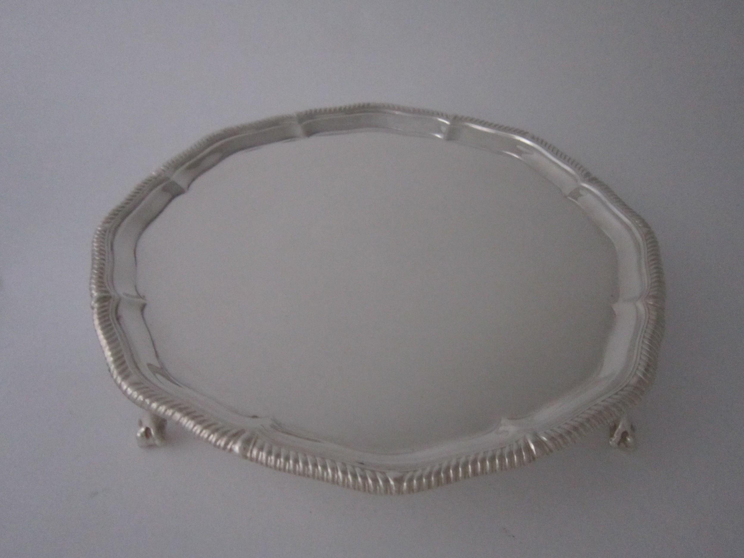 antique george v sterling silver salver