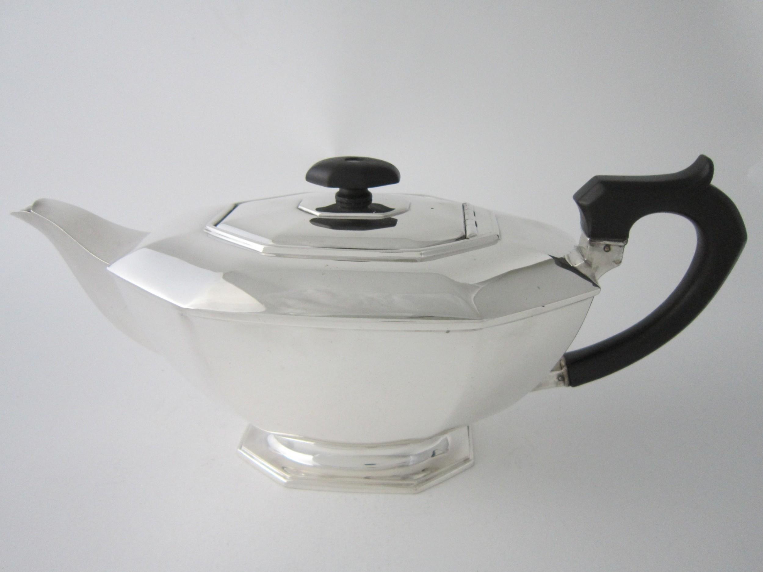 antique george vi sterling silver teapot