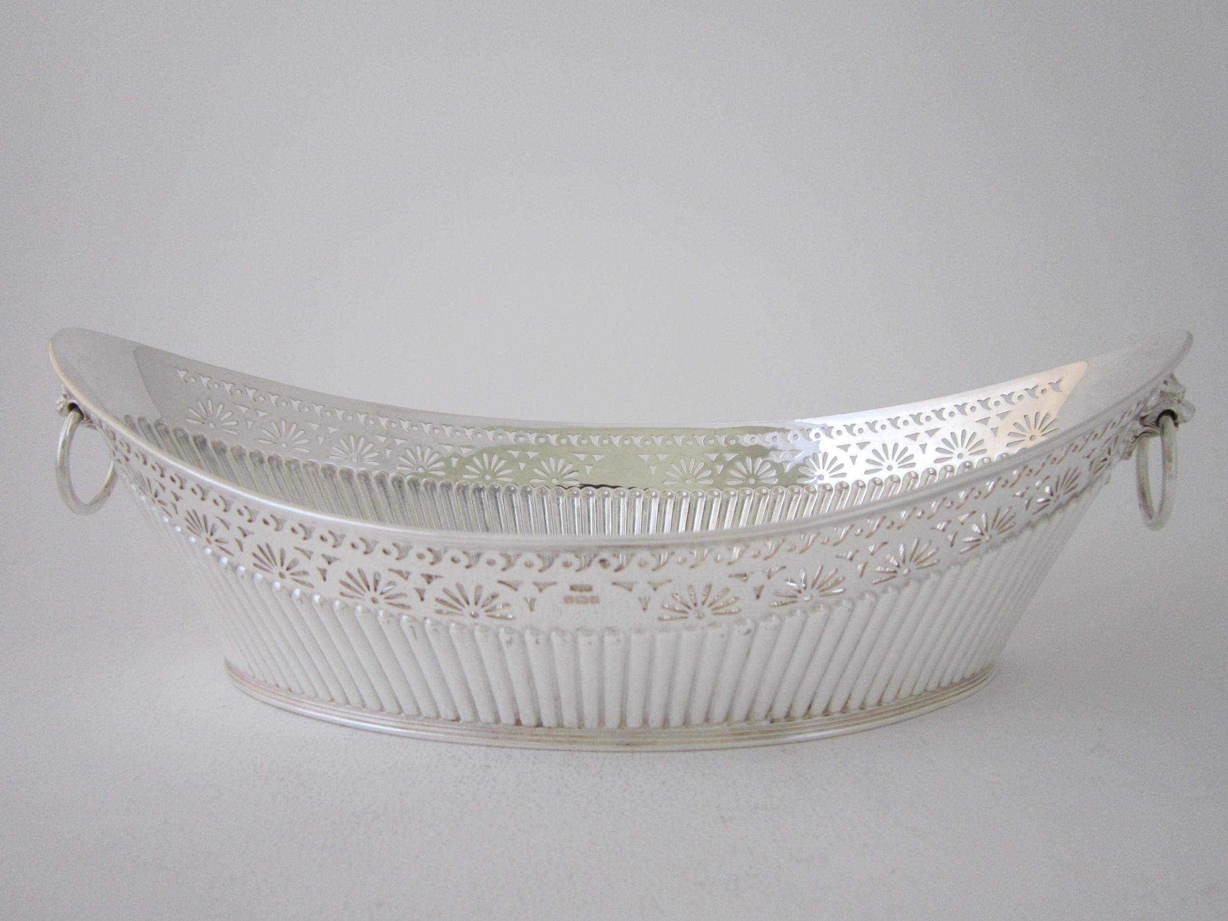 antique edwardian sterling silver dish