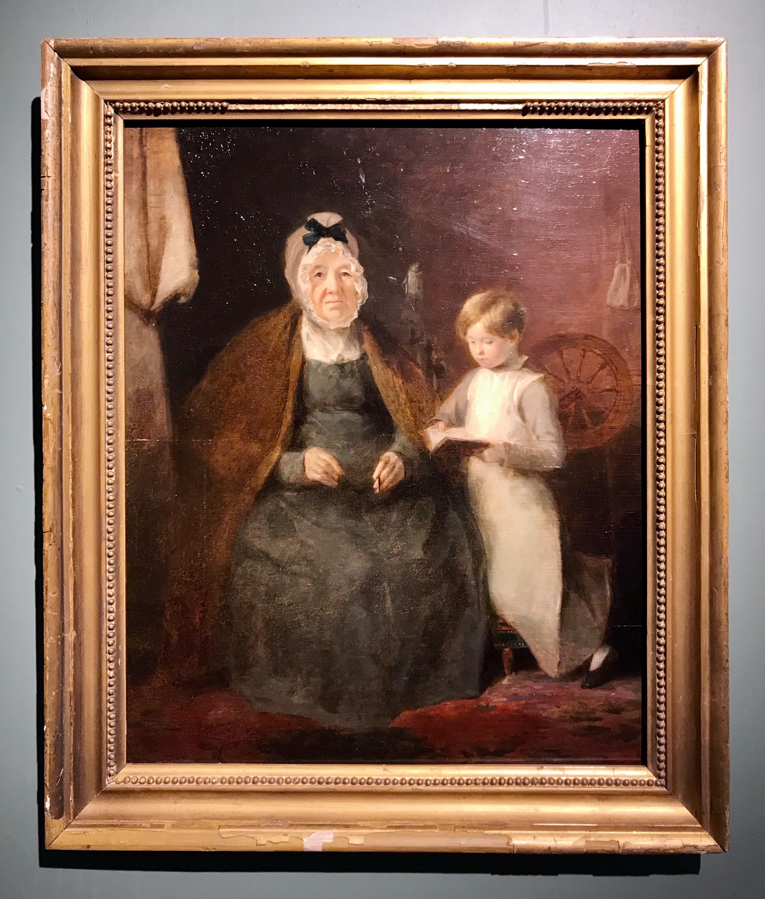 an intimate cabinet portrait of elizabeth constable and her granddaughter by andrew geddes ara early 19th century scottish portrait comparable to sir david wilkie