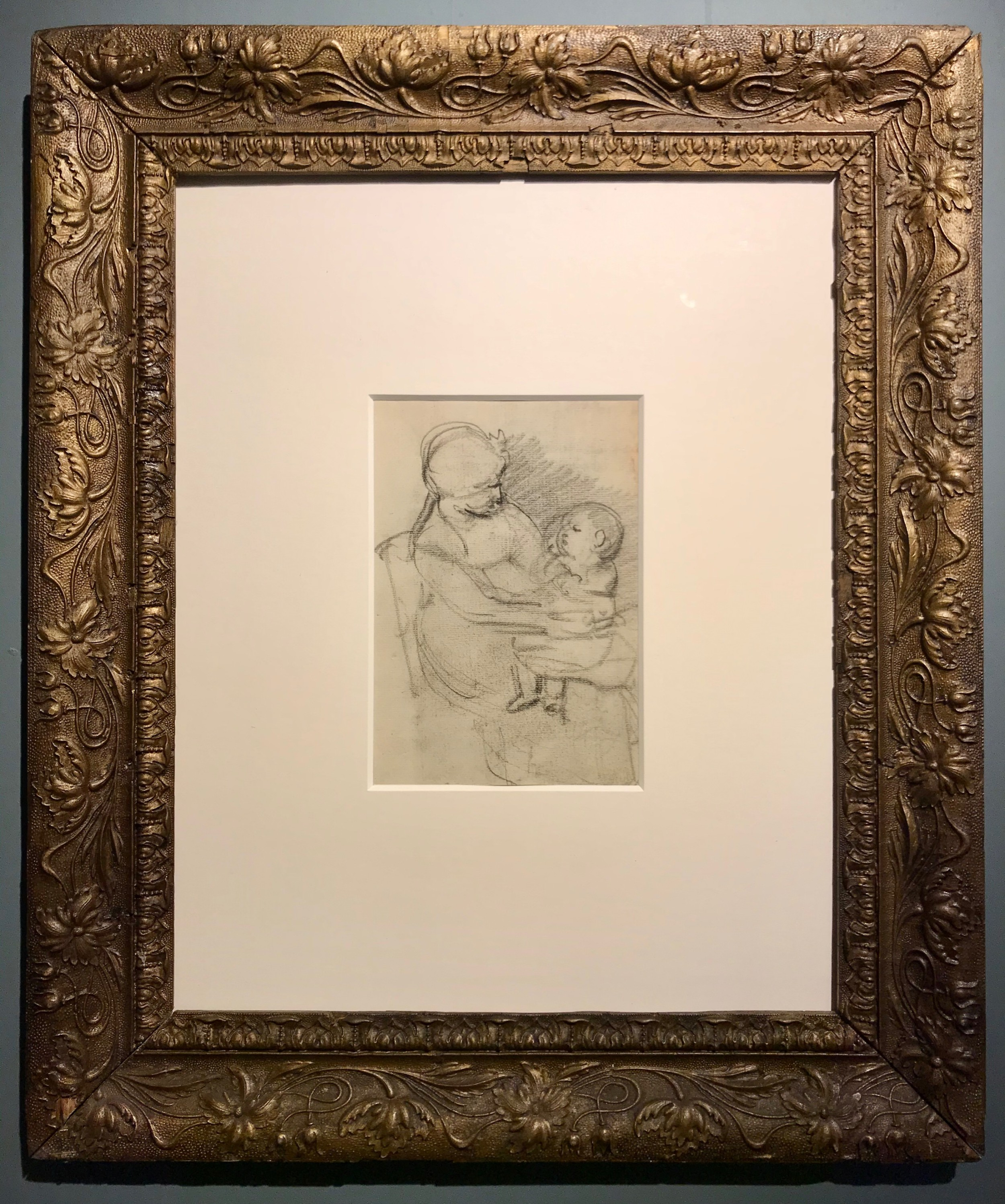 a tender doublesided drawing of a mother with her child by andrew geddes ara early 19th century scottish art figural drawing