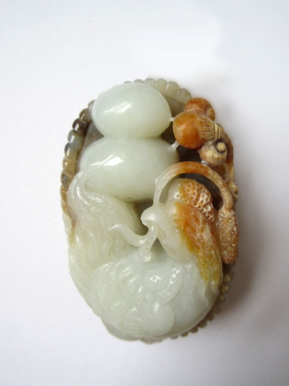 chinese nephrite jade chicken and eggs