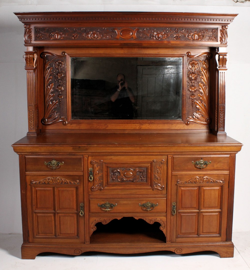 Stunning c th antique victorian walnut carved maple co