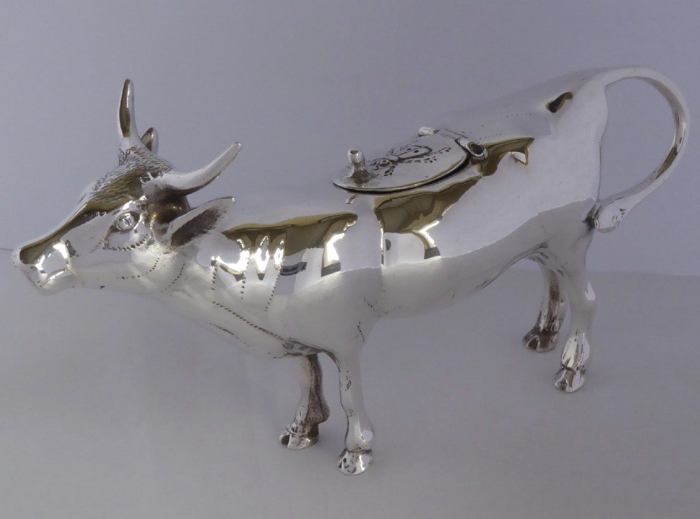 nice quality continental silver cow creamer