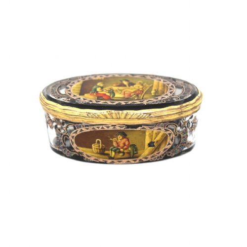 quality crystal and mosaic pill box