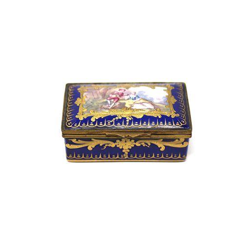 18th century sevres porcelain pill box