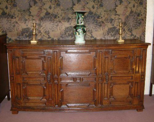 french 17th century oak low dresser base c 1680