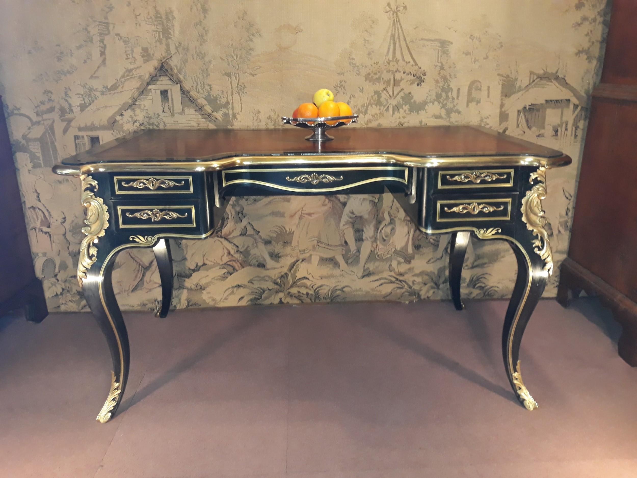 french 19th century louis xv style bureau plat c 1870