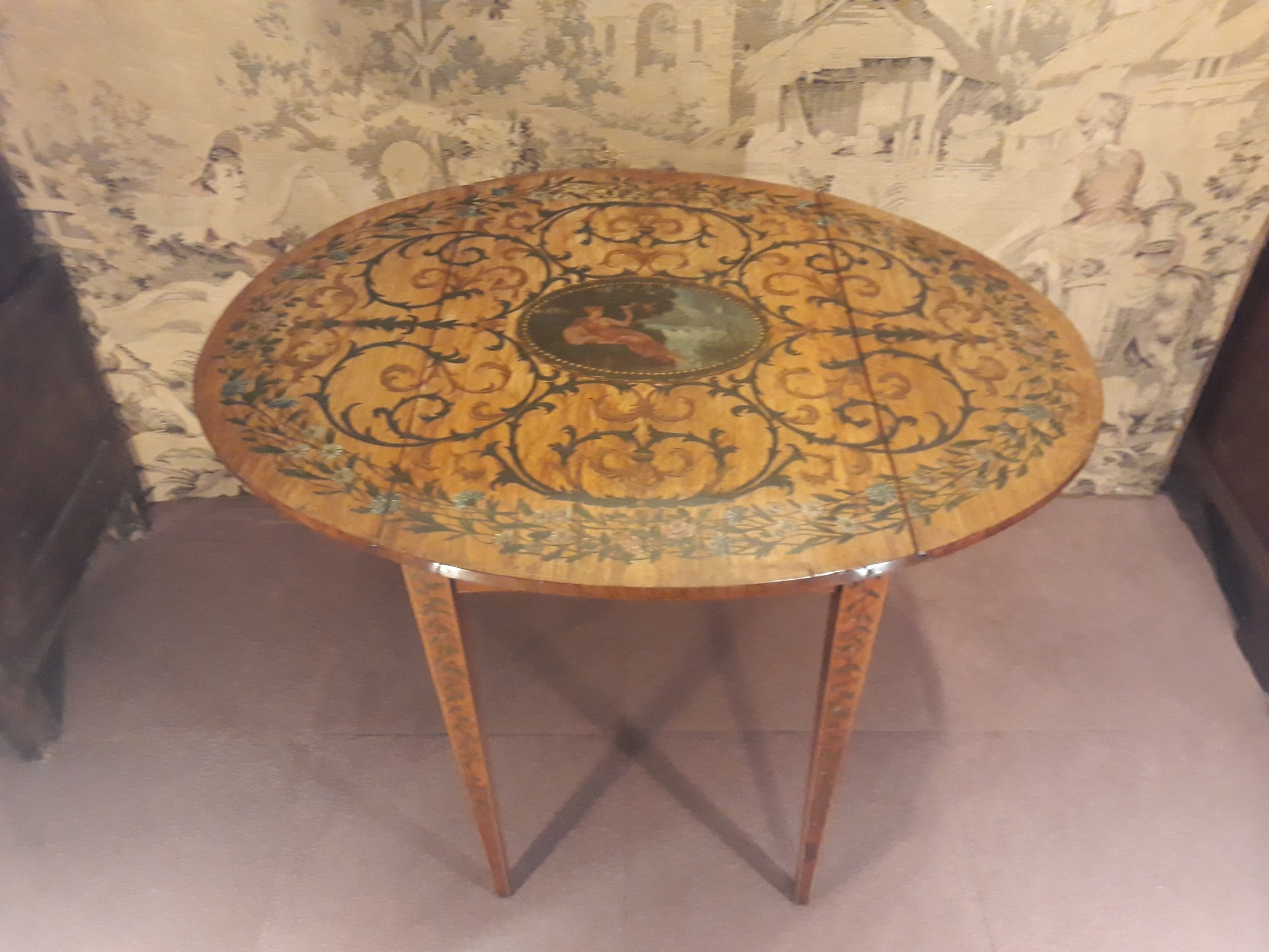 early 19th century satinwoodpainted pembroke table