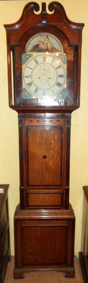 welsh 8 day arch dial clock owen of llanrwst with starburst in the door