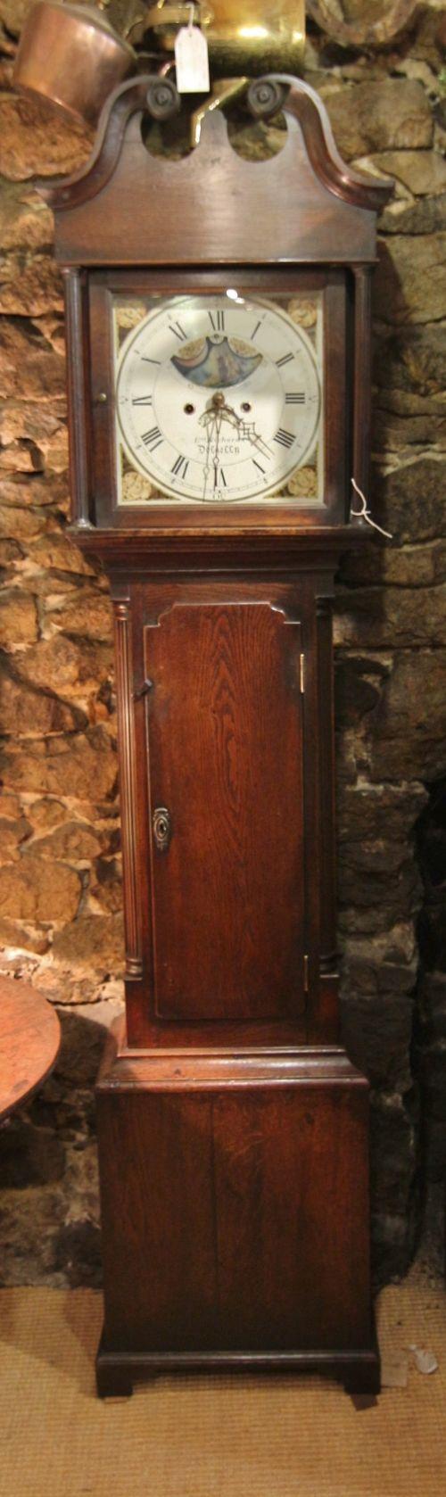 small 18th century welsh oak longcase clock 'e richards dollgellau'