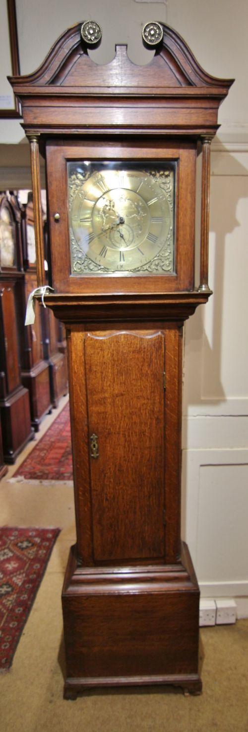 small oak cased 30 hour longcase clock