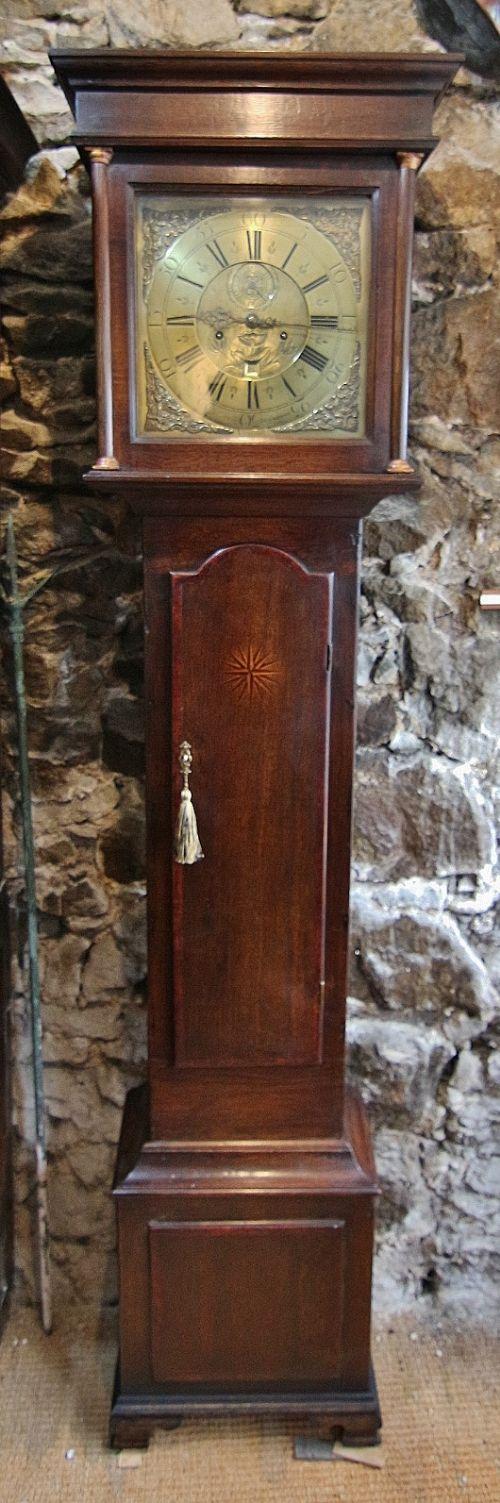 welsh 18th century 'john owen llanrwst' 8 day oak longcase clock