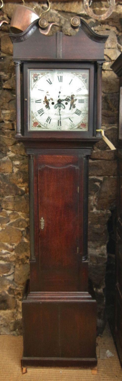 early 19th century welsh oak 8 day longcase clock 'thomas bartley pwllheli'