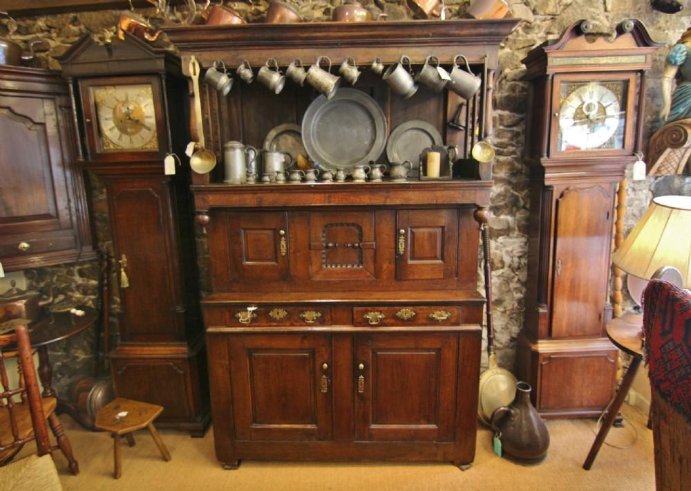 18th century welsh oak tridarn court cupboard