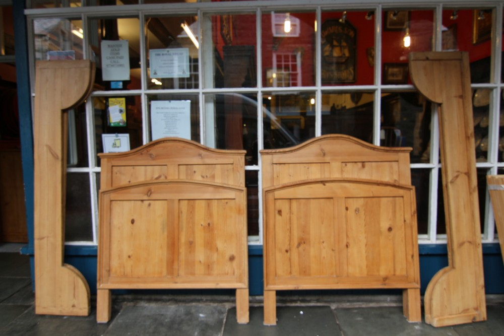 a pair of continental knock down pine beds