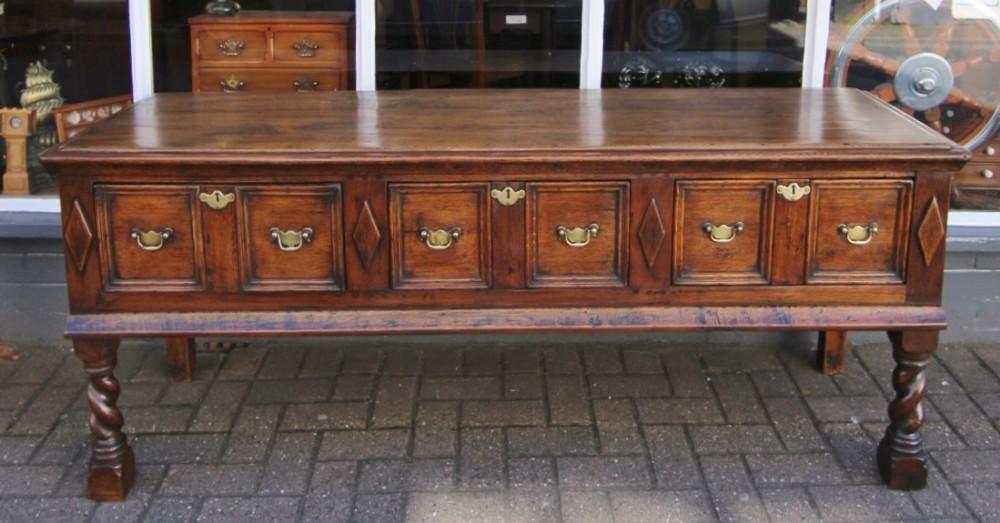 georgian oak dresser base