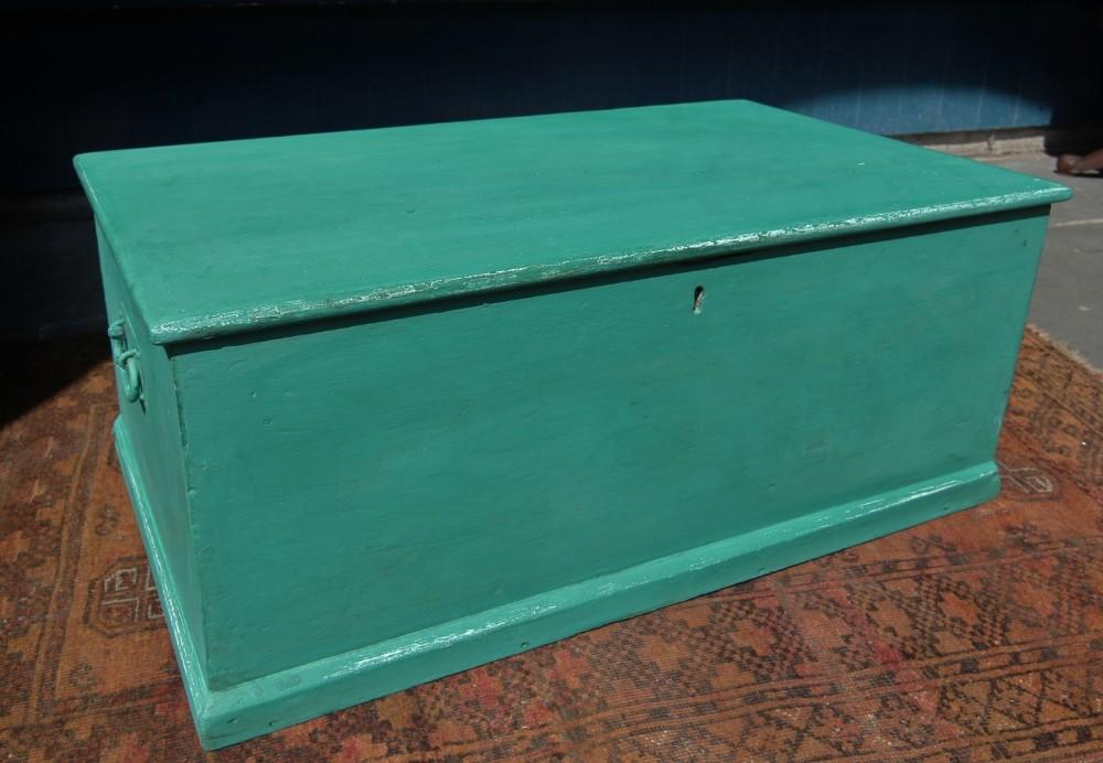 19th century painted pine box