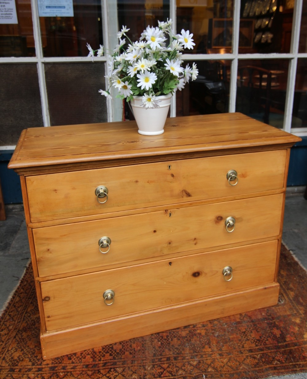 19th century 3 drawer chest of drawers