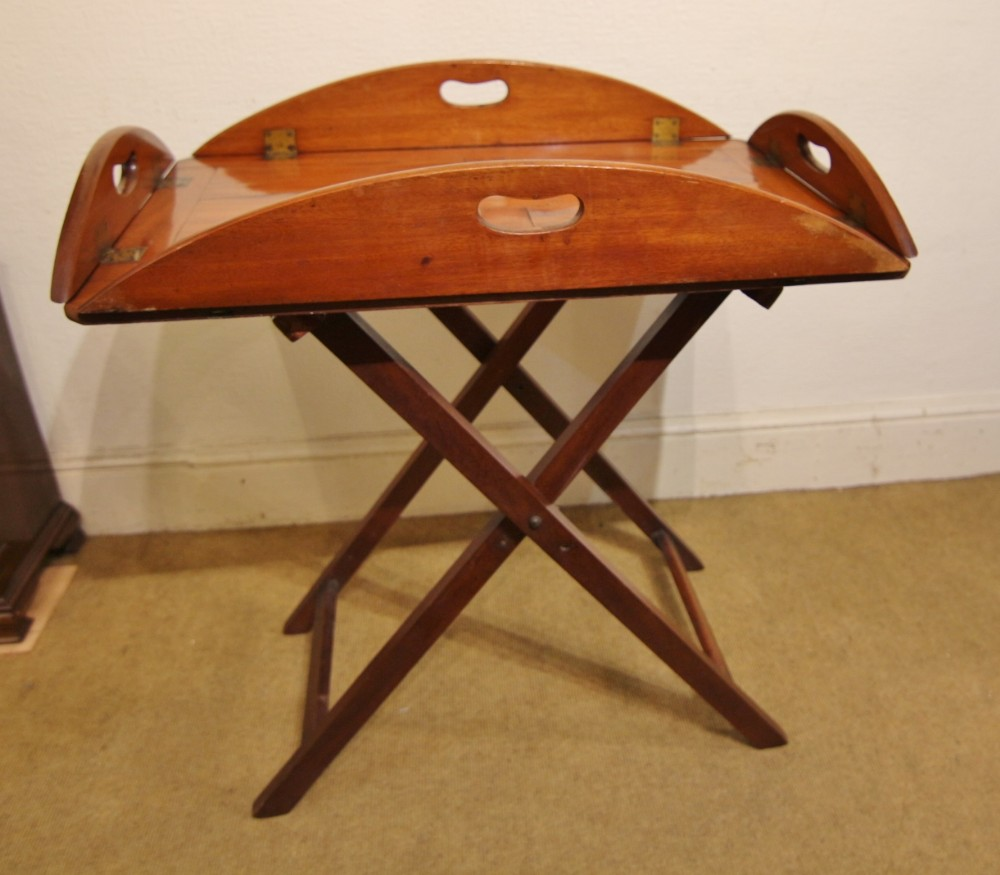 19th century butlers tray stand