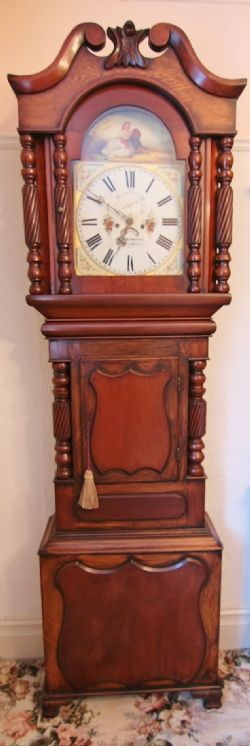 19th Century Walnut Wall Clock David Parry Caernafvon