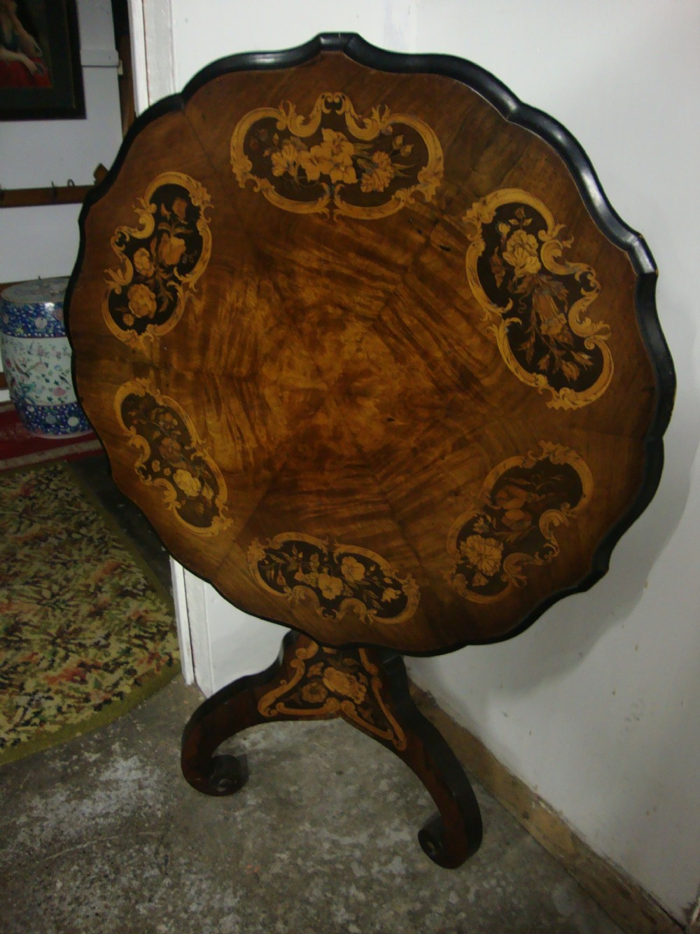 antique victorian rosewood marquetry inlaid mahogany centre table