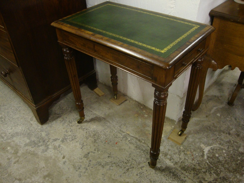 antique regency mahogany gillow's lady's writing desk architect's table