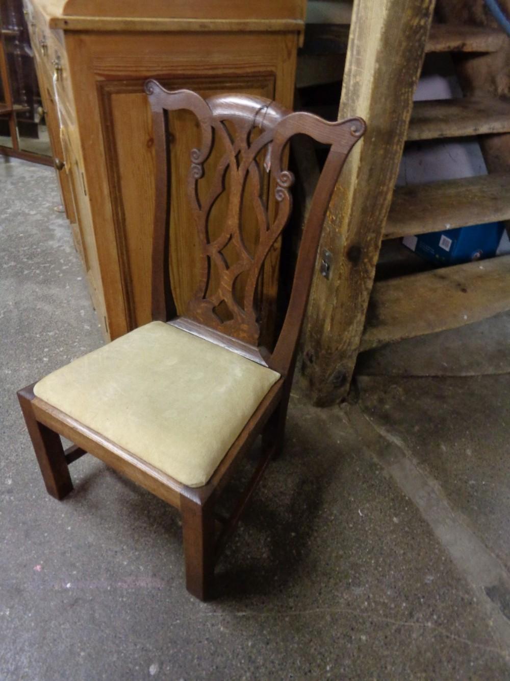 antique oak gossip chair - Antique Oak Gossip Chair 411298 Sellingantiques.co.uk