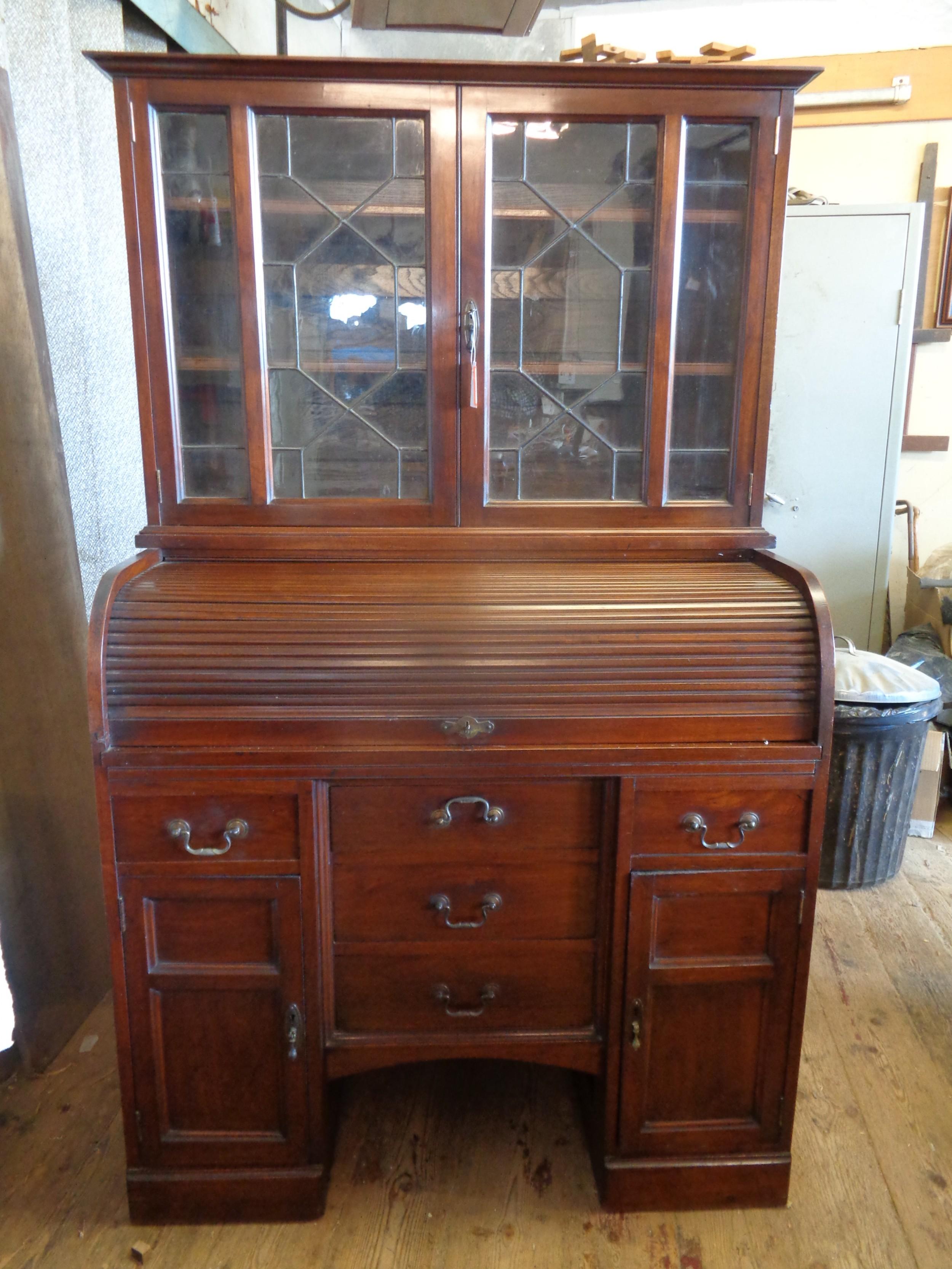 antique mahogany roll top desk