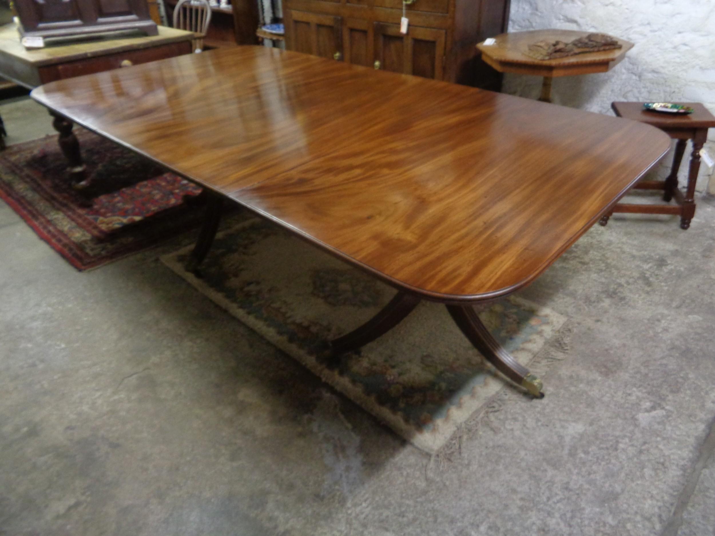 antique regency mahogany d end table