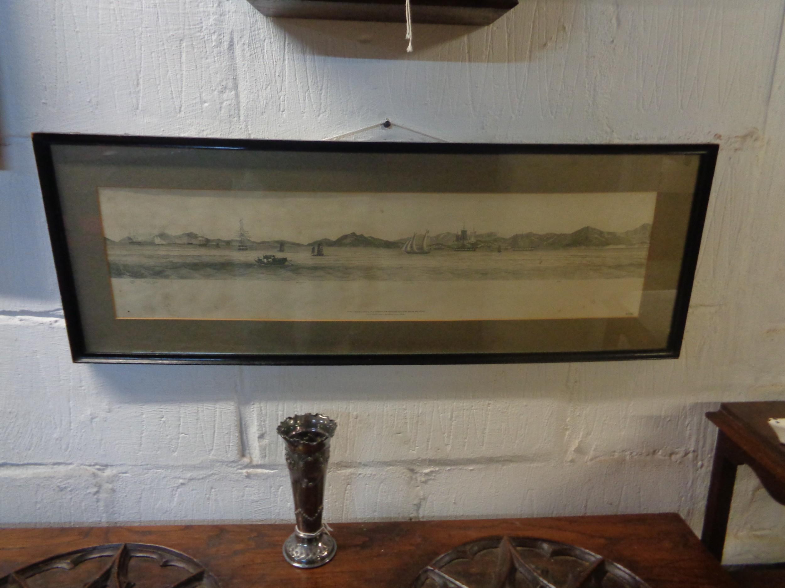 antique admiralty maritime chart hong kong 1847